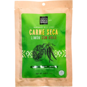 People's Choice Carne Seca Limon Con Chile Craft Beef Jerky