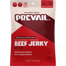 Prevail Beef Jerky Gluten Free Grass Fed Spicy Front