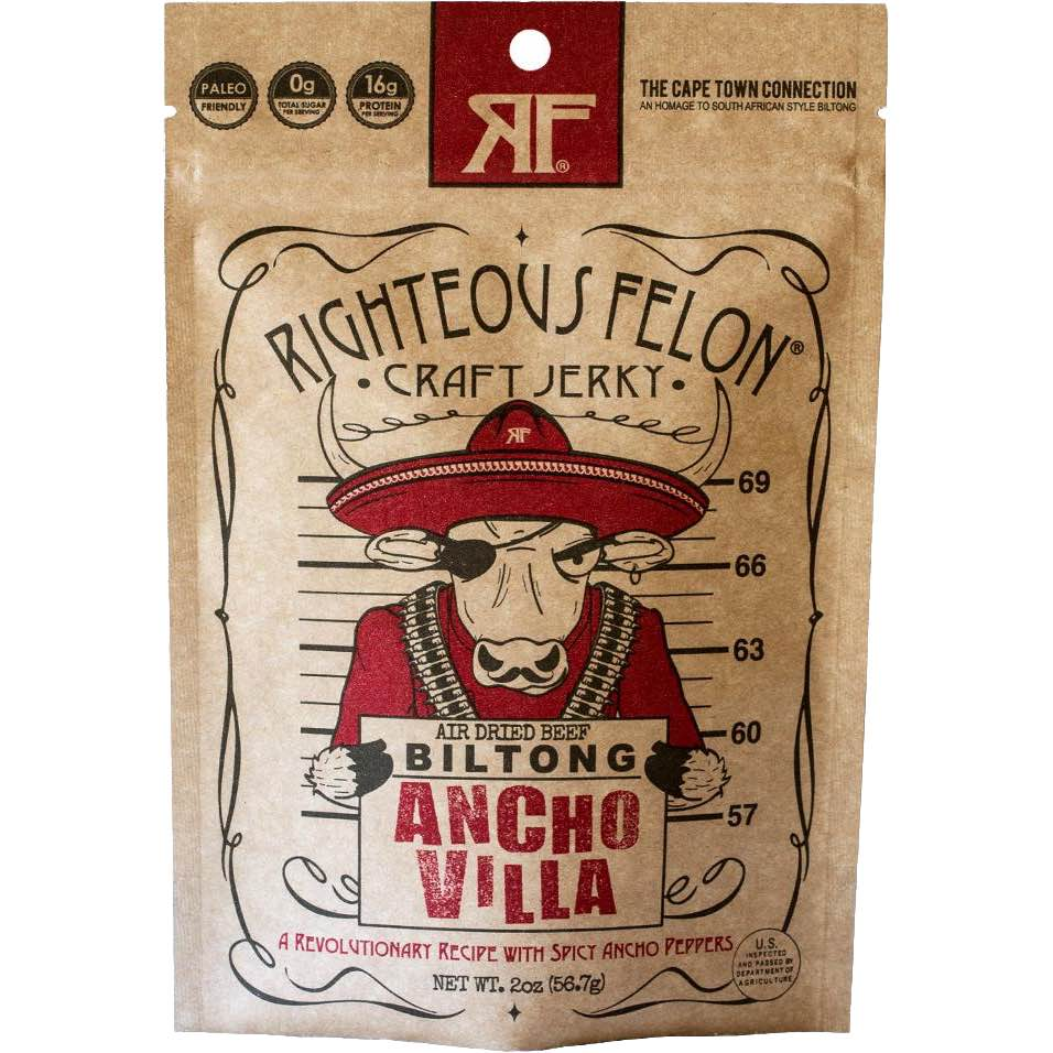 Righteous Felon Ancho Villa Beef Biltong