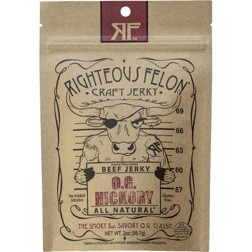 Righteous Felon OG Hickory Beef Jerky Front