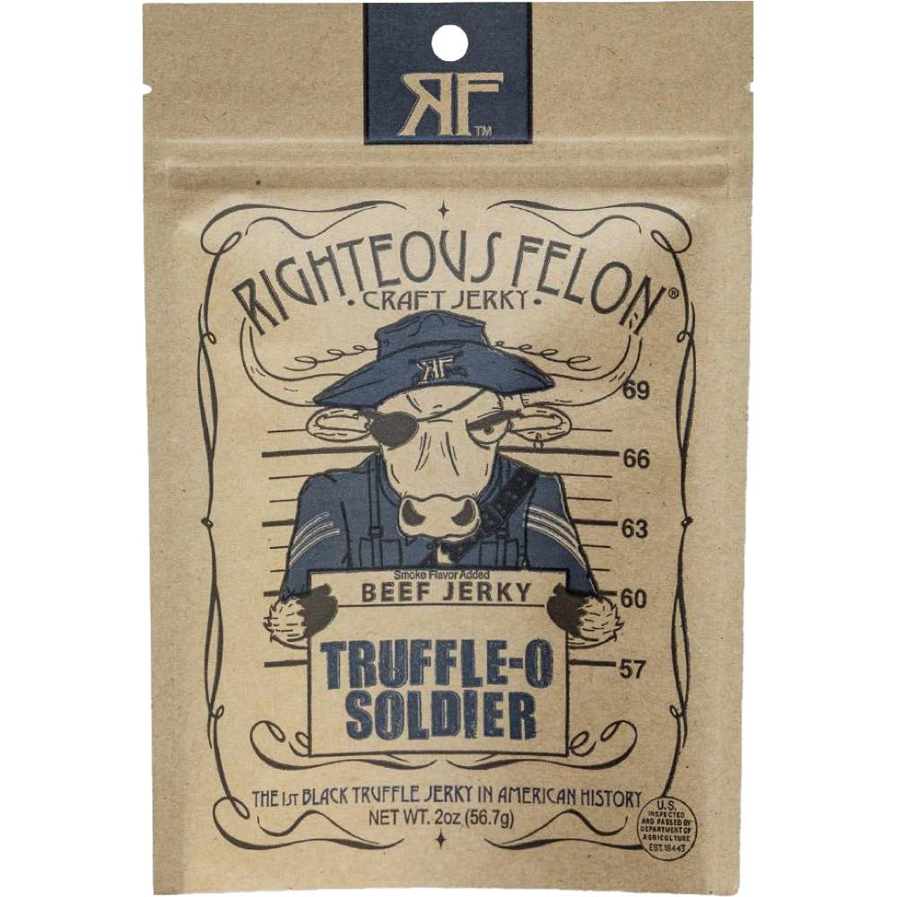 Righteous Felon Truffle-O Soldier Beef Jerky Front