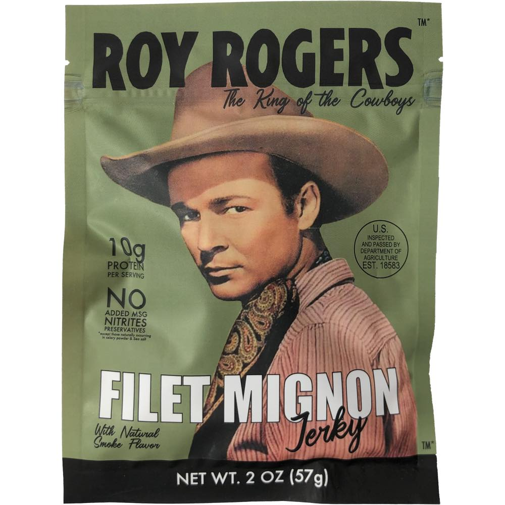 Roy Rogers Filet Mignon Beef Jerky Front Of Package
