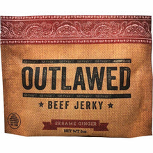 Outlawed Sesame Ginger Beef Jerky Front of Package