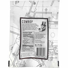 Side Project Jerky Cowboy Nutrition Facts Back of Package