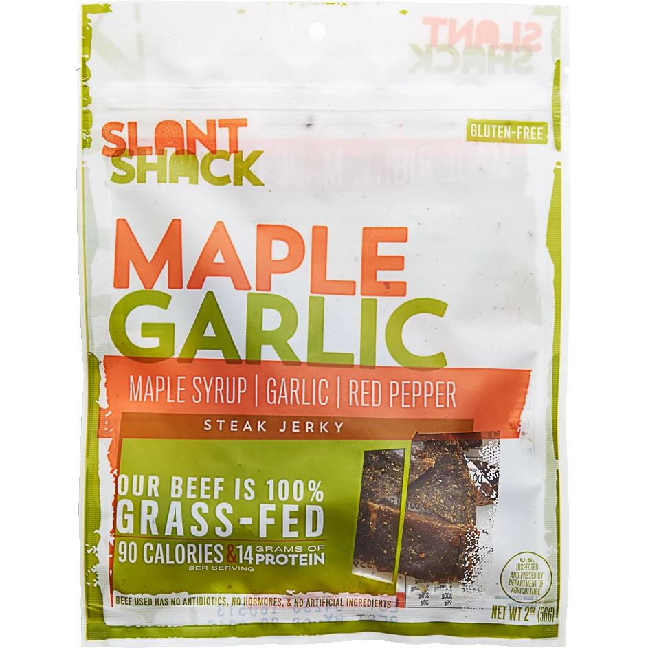 Slant Shack Maple Garlic Steak Beef Jerky, 2.0-oz