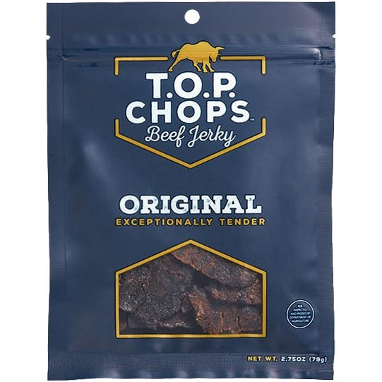 TOP Chops Premium Brisket Beef Jerky Original Front Of Package