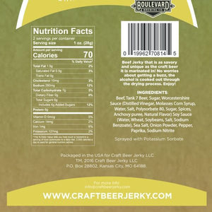 Craft Beer Jerky Boulevard Tank 7 Nutrition Facts