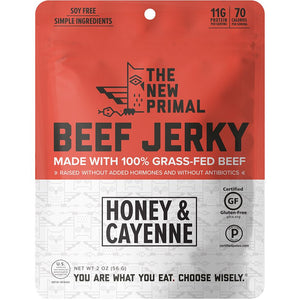 The New Primal Beef Jerky Honey & Cayenne Gluten_Free