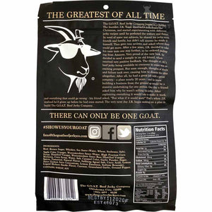 The GOAT Beef Jerky Company - Whiskey Rebellion back of package