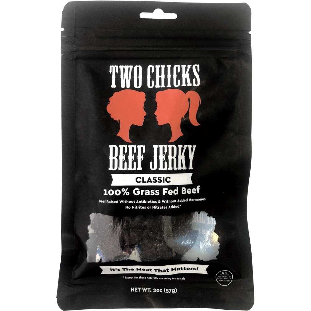 Two Chicks Beef Jerky Classic Flavor Front