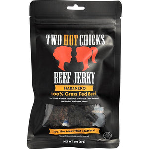 Two hot chicks habanero beef jerky. hot and spicy.
