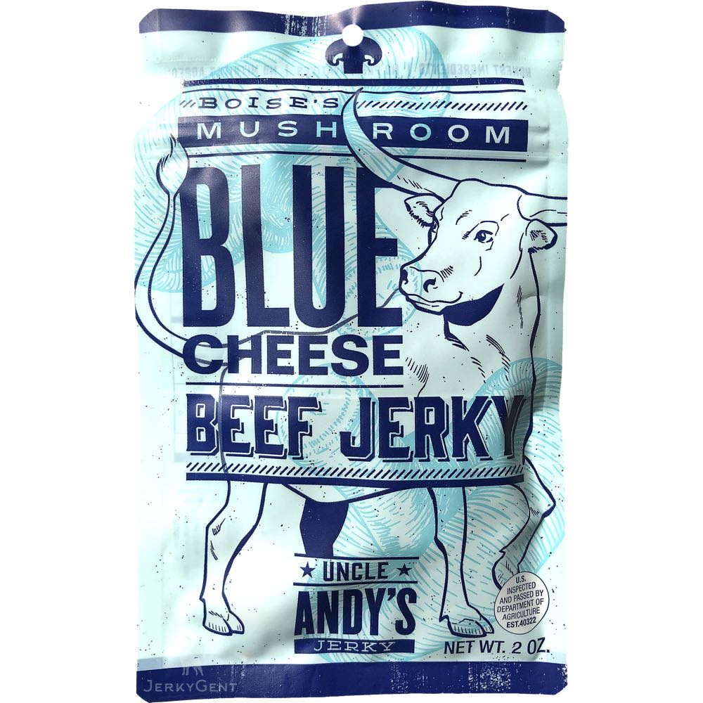 Uncle Andy's Mushroom Blue Cheese Artisan Beef Jerky