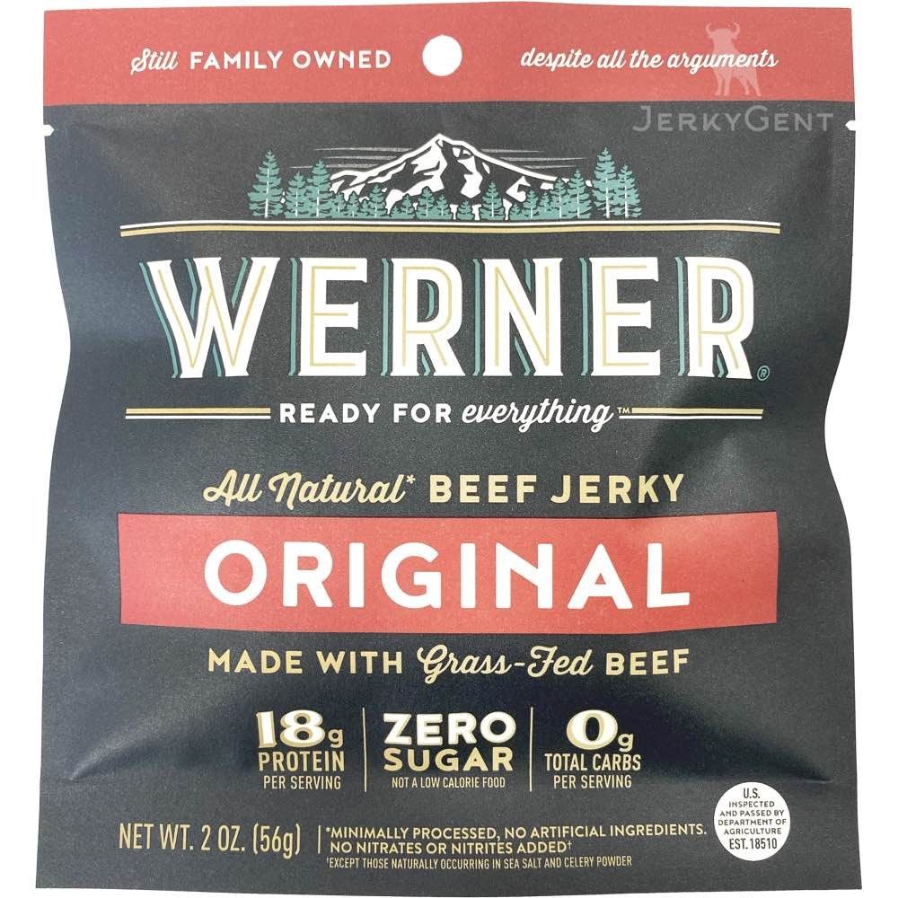 Werner Sugar Free Keto Friendly Beef Jerky Original