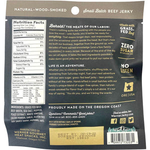 Werner Beef Jerky Salt And Pepper Gluten Free Zero Sugar Nutrition Facts