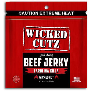 Wicked Cutz Carolina Reaper Beef Jerky Extremely Hot Carolina Killa