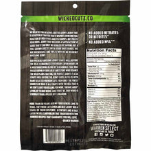 Wicked Cutz Beef Jerky Back Of Package Nutrition Fact Volcanic Jalapeno