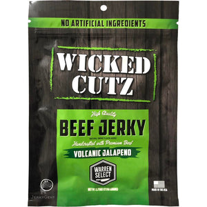 Wicked Cutz Volcanic Jalapeno Spicy Beef Jerky Front