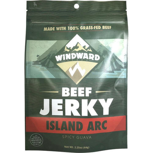 Windward Jerky Island Arc Spicy Guava Flavored Beef Jerky