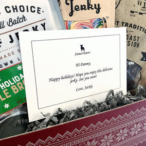 JerkyGent Christmas Gift Box - Gift Note