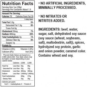 Lucky Beef Jerky Teriyaki Nutrition Facts - Premium Angus