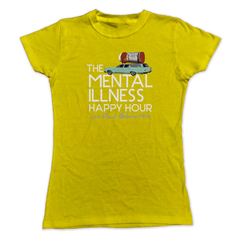 Ladies Mental Illness Happy Hour Logo TShirt – Slim Fit