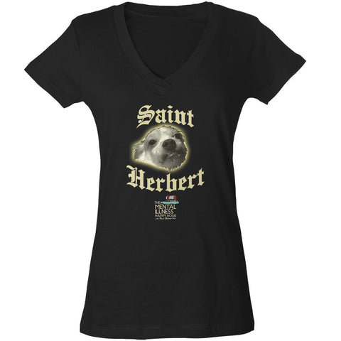 Ladies Saint Herbert Vneck Tshirt – Slim Fit