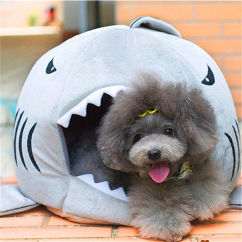 Shark Pet Bed (Pink, Grey, and Blue)