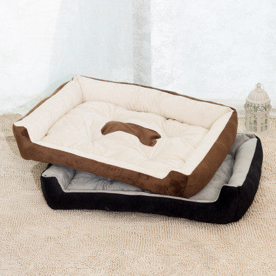 Bone Plush Pet Bed