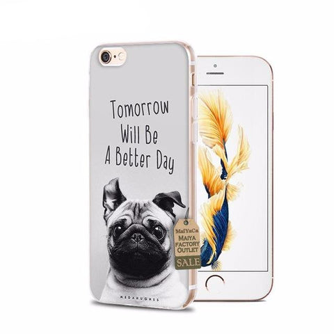 Better Day Pug iPhone Cases