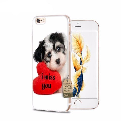 I Miss You Dog iPhone Cases