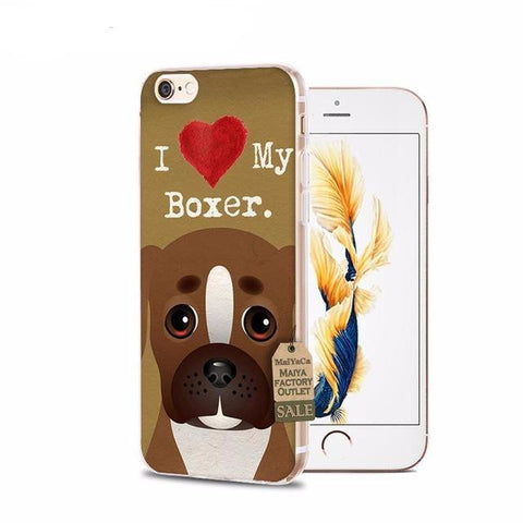 I Heart My Boxer iPhone Cases