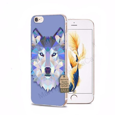 Mosaic Wolf iPhone Cases