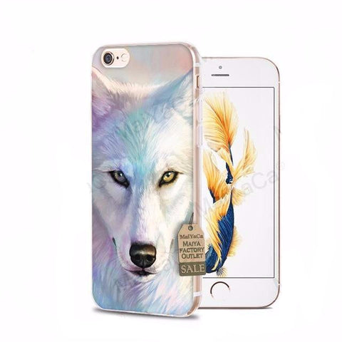 Northern Lights Wolf iPhone Cases