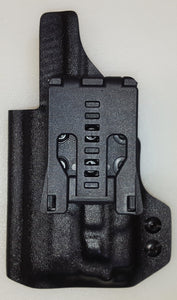 Canik TP9 ELITE Sub Compact (OWB), Right Handed, Compatible with Olight PL Mini 2, & Threaded Barrel. RMR Cut, Suppressor height sight channel, Single point attachment (Tek-Lok).
