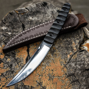 Military Tactical Bayonet  + Leather sheath