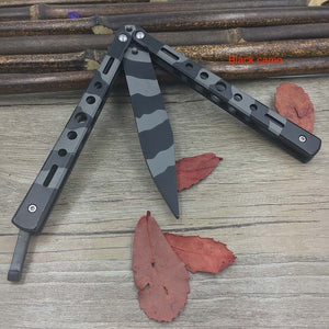 Realistic Looking Dull Practice Butterfly Knife Trainer
