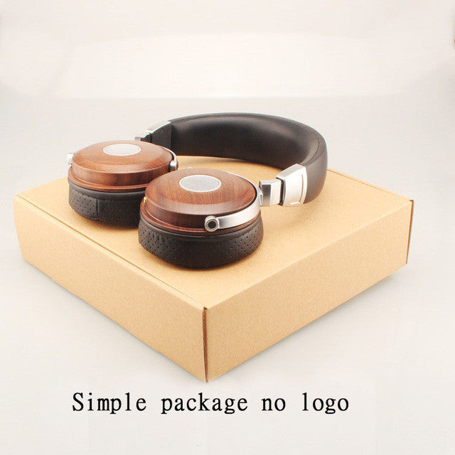 Wooden Headphones Headset - Hifi Headphone Stereo Open Monitor Earphone With Beryllium Alloy Driver