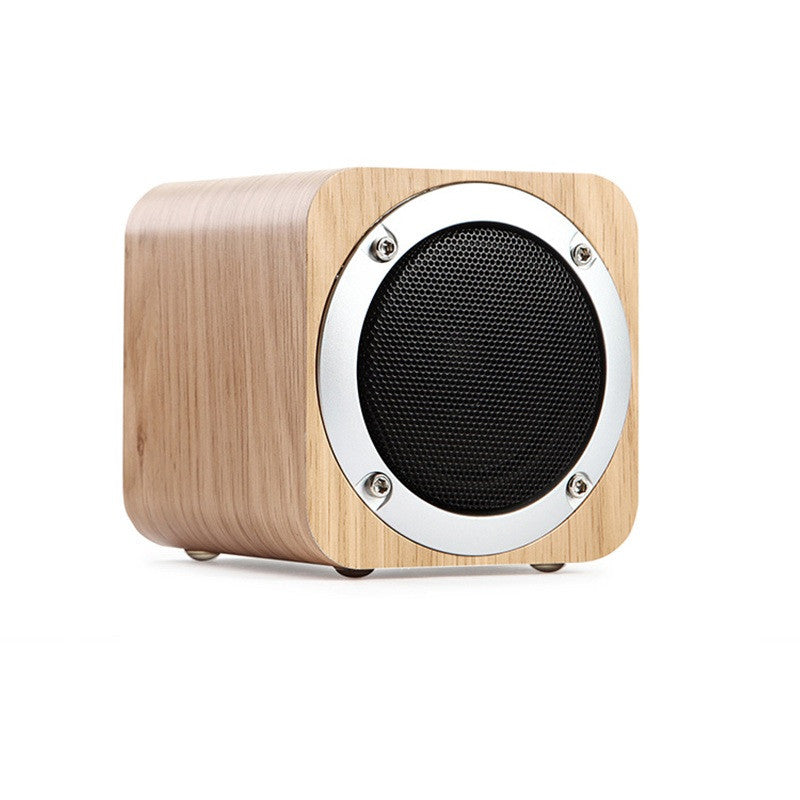 Portable Wood Bluetooth Speaker with Subwoofer