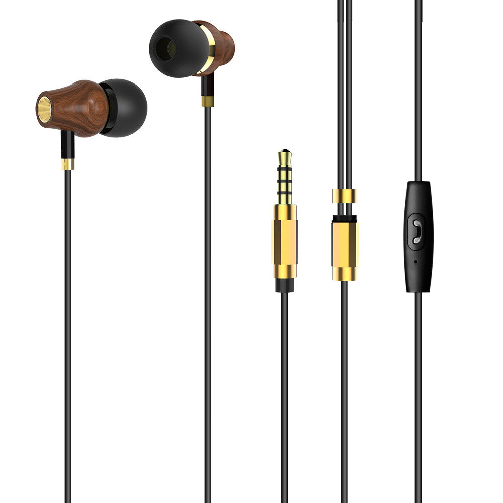 Noise-isolating Wood Earphone In-ear