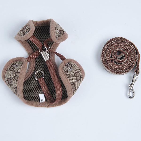 Cucci Fashion Dog Harness & Leash