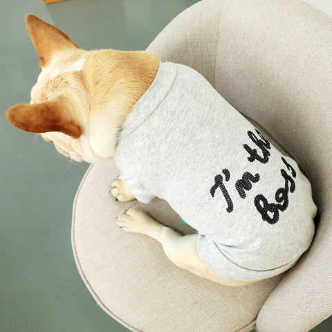 I Am The Boss Dog Tshirt