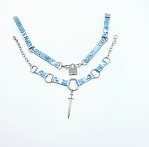 CHOKER SET - 5 OF SWORDS + LOCK CHOKER