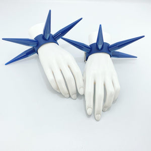 BITCHSPIKE CUFFS IN NAVY BLUE
