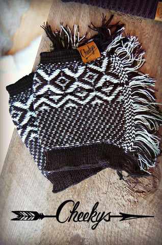 Black Fringe Boot Cuff