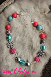 Girls Icy Gumball Necklace
