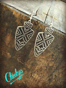 Miranda Aztec Arrowhead Earrings