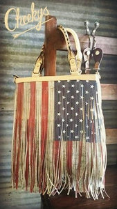 Rodeo American Flag Bag
