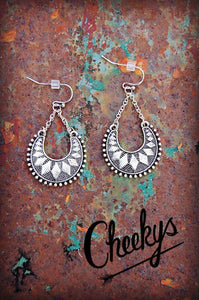 Silver Crescent Gypsy Earrings