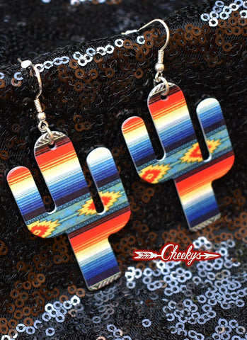 Erica Serape Cactus Earrings