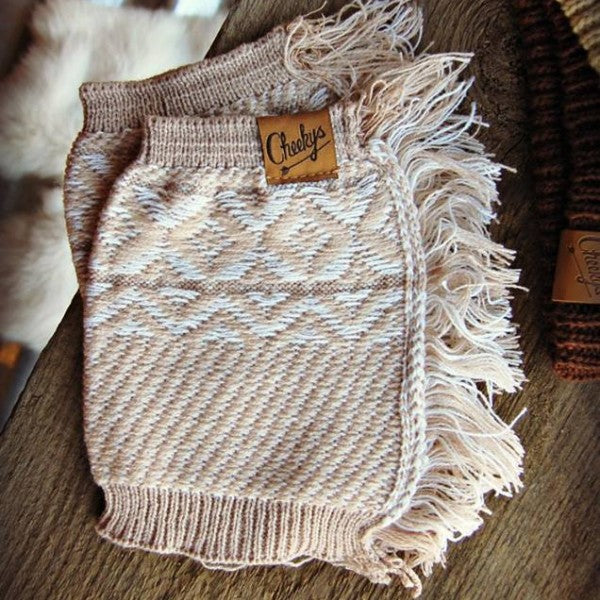 Winter Wheat Fringe Boot Cuff